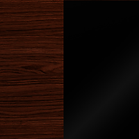 brown oak/black gloss