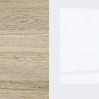 San Remo oak / gloss white