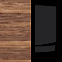 merano walnut / gloss black
